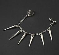 Catena europea Con NeedleSilver lega orecchini di clip (1 Pc)