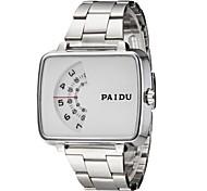 Unisex Binary Anzeige quadratischen Zifferblatt, Silber, Stahl-Band-Armbanduhr (verschiedene Farben)