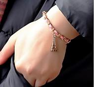 Weinlese-20cm Frauen-Legierungs-Charme-Armband (Pink) (1 PC)