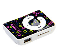 "TF Card Reader ""C"" Keyboard Digital Mp3 Player with Clip"