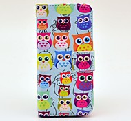Various Owls Pattern PU Leather Full Body Case for iPhone 5/5S