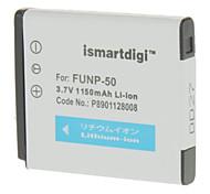 ismartdigi 1000mAh Camera Battery+Car Charger for Fuji NP-50 X10 F775 F750 F665 F600 F605 F550