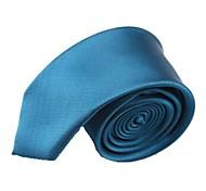 Solide Couleur bleu royal étroite microfibre cravate des hommes
