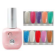 1PCS CH Soak-off Pink Bottle Astral Glitter UV Color Gel Polish NO.181-190(15ml,Assorted Color)