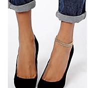 shixin® сладкие простой цепью женщин формы елочка золотого сплава босиком сандалии (27см * 2 см * 2 см) (1 шт)