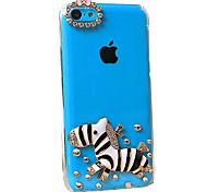 Cute Cartoon Zebra Pattern Back Case for iPhone 5C