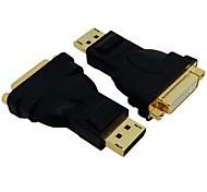 Displayport DP auf DVI 24 +5 DVI-I-Stecker auf Buchse Adapter für Apple-Mac