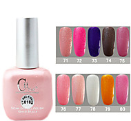 1PCS CH Soak-off Pink Bottle Glitter UV Color Gel Polish NO.71-80(15ml,Assorted Color)