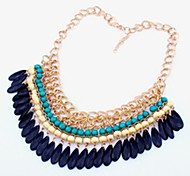 Z&X® Women's Vintage Water Droplets Acrylic Evening Bib Necklace