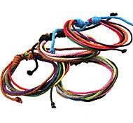 Clásicos arcaizante 20cm hombre de cuero con color clasificado Strand pulsera () (1 PC)