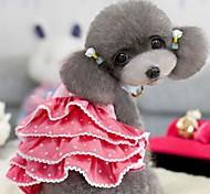 Dog Dress Red / Purple Summer Polka Dots