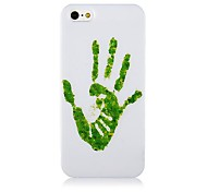 Verde a mano modello Custodia morbida in silicone per iPhone4/4S