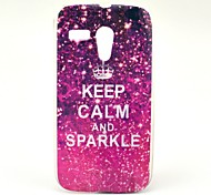 Keep Calm and Sparkle Pattern Soft Case Cover for Moto G