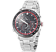 CURREN® Men's Racing Dial Steel Band Quartz Wrist Watch (Assorted Colors) Cool Watch Unique Watch