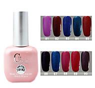1PCS CH Soak-off Pink Bottle Glitter UV Color Gel Polish NO.81-90(15ml,Assorted Color)