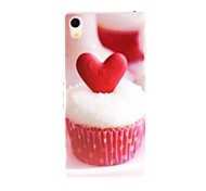 Kinston Heart cakes Pattern Plastic Hard Case for Sony Xperia Z2