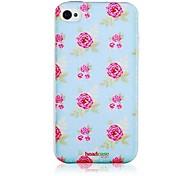 Patrón mensual Rose Caso de silicona suave para iPhone4/4S
