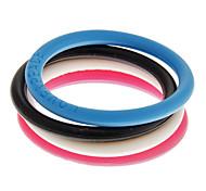 Fashion Funny Elastic Round Sport 14cm Unisex  Acrylic ID Bracelet(5 Pcs)