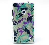 Leopard Graffiti  Pattern TPU Soft Case for Nokia Lumia N520