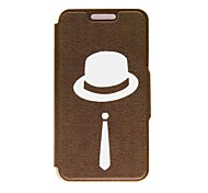 Kinston Gentleman Pattern PU Leather Full Body Case with Stand for iPhone 4/4S