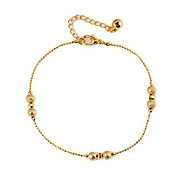 Klassische Frosting Incised Perlen Damen Goldene Alloy Fußkettchen (26,5 cm * 0,5 cm * 0,5 cm) (1 PC)