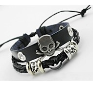 Fashion Skull Leather Bracelet
