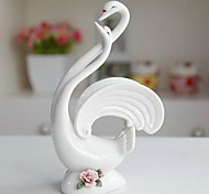White Love Swan Porcelain Collectibles for Home Decoration