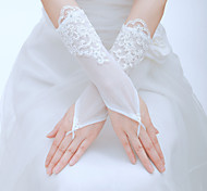 Wrist Length Fingertips Glove - Tulle Bridal Gloves/Party/ Evening Gloves
