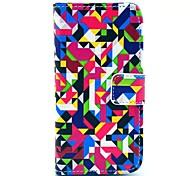 Diamant-Puzzle-Muster PU-Ledertasche mit Kartensteckplatz und stehen für Samsung Galaxy S4 Mini I9190