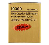 Teléfono 2850mAh de alta capacidad de batería de la célula de oro para Samsung i9300 Galaxy