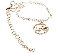 (1 Pc) Feminino 5cm elegante charme pulseira de ouro da liga (ouro)