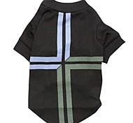 Gatos / Cães Camiseta Preto Roupas para Cães Primavera/Outono Bandeira Nacional