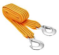 3 тонны автомобилей буксировочный кабель Буксировка ремень Веревка с крючками чрезвычайных ситуациях для Супер Heavy Duty