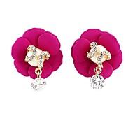 Mais Novo Nobre Estilo Design lindo Blooming Flower Formato da Pérola 2014 Moda Brinco