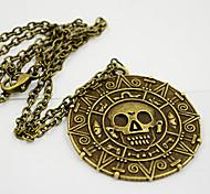shixin® süß (rund) Gold-Legierung Anhänger Halskette (Bronze, Gold) (1 Stück)