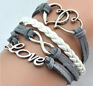 Miss ROSE®Fashion Homemade Heart Shape Love 20cm Women's Alloy Wrap Bracelet(1 Pc)