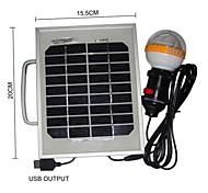 36 LED de luz blanca 2W del panel solar cargador solar del teléfono móvil Sistema de iluminación portátil