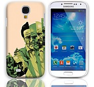 El hombre con el patrón del maletín duro con Paquete de 3 protectores de pantalla para Samsung Galaxy S4 mini-I9190