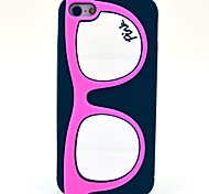 Glasses Frame Pattern Silicone Soft Case for iPhone 5/5S (Optional Colors)