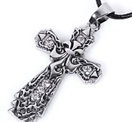 Carving Cross Pendant Necklace