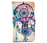 Feather Windbell Pattern PU Leather Case with Stand Card Money Holder for Samsung Galaxy Note3 N9000