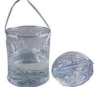 Esportes e Lazer Camping PVC Folding balde de água - Transparente (10L)