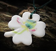 Fashion Clovers Ceramic Woven Necklace