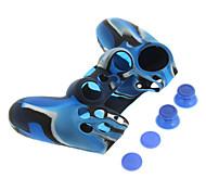 PS4 Protective Silicone Case and 2pcs Rocker Silicone Cap + 2pcs Nonslip Silicone cap Set