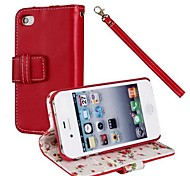 The Floral Cloth Pattern Full Body  Case for iPhone4/4S (Optional Colors)