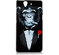 Cigar Gorilla Pattern Back Case for Sony Xperiaz (L36H)