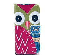 Cute Owl And Sika Deer Pattern PU Leather Full Body Case for iPhone 5C