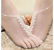 Elegrant Translucent Intertexture  Pearl Barefoot Sandals*1pc