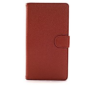 Solid Color Litchi Texture Full Body Leather Case with Stand for Nokia Lumia 1320 N1320