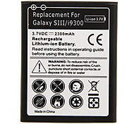 2300mAh Cell phone Battery Black for Samsung Galaxy SIII/i9300(2pcs)